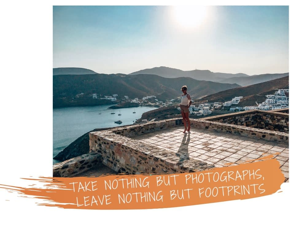 Quote: Take nothing but photographs, leave nothing but footprints
